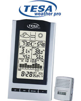 WS1151 TESA Moon Phase Weather Station Barometer