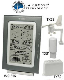 WS1516IT La Crosse Professional Weather Station