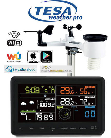 WS2900C-PRO TESA Prof 7 Inch Colour WIFI Weather Station