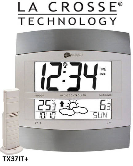 WS6158IT La Crosse Wall clock with Weather Icon Display