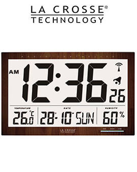 WS8007 La Crosse 36cm Large Display Wall Clock