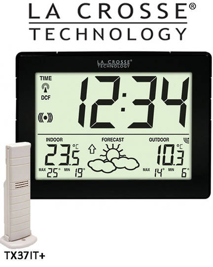 WS9180IT La Crosse Compact Wall Clock Weather Station