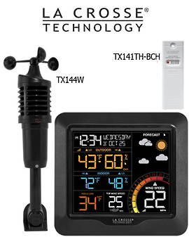 327-1417 Lacrosse Prof Wind Speed Colour Station