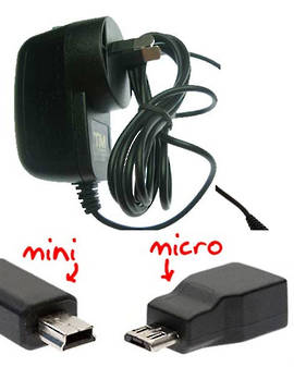 microUSB Wall Charger for Nokia, Motorola, Samsung and microUSB devices