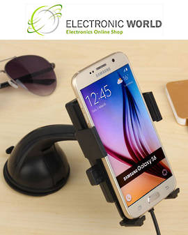 QI Wireless Car Charger with Suction Cup for Phone