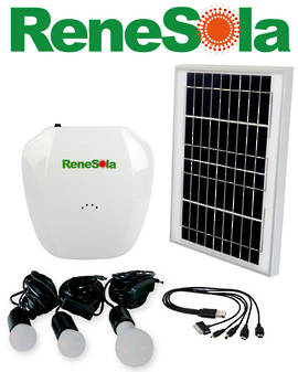 RENESOLA RMLB-06 10W Solar Charging and Lighting System