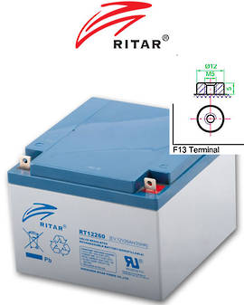 RITAR RT12260EV 12V 26AH EV SLA Battery for Electric Vehicle