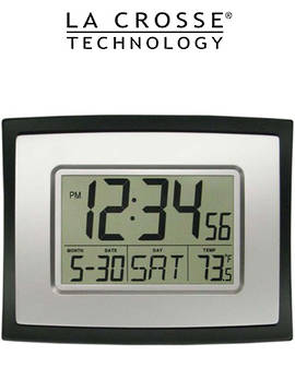 WT8002U La Crosse Wall Clock with Indoor Temp Calendar