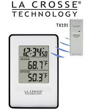 308-1910 La Crosse Black In/Outdoor Temp Station