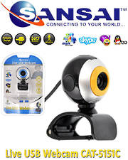 SANSAI Live USB Webcam for Video Conference