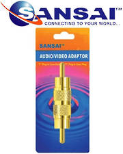 SANSAI RCA Gold Plated Plug To Plug Adaptor