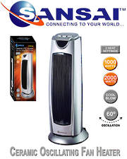 SANSAI Ceramic Oscillating Fan Heater
