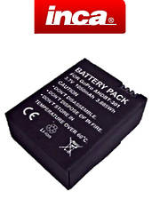 INCA GOPRO HERO 3, 3+ AHDBT-201, AHDBT-201 301, AHDBT-301 Compatible Battery