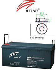 RITAR RA12-200 12V 200AH SLA Lead Acid battery