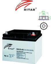 RITAR RA12-45 12V 45AH SLA battery