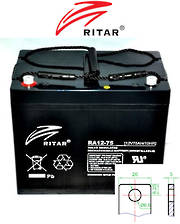 RITAR RA12-75D 12V 75AH Deep Cycle SLA Battery