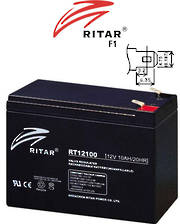 RITAR RT12100S 12V 10AH SLA battery