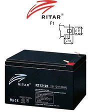 RITAR RT12120 12V 12AH SLA battery (F1 Plug)