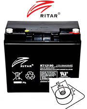 RITAR RT12180 12V 18AH SLA battery (F13 Plug)