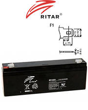 RITAR RT1223 12V 2.3AH SLA battery
