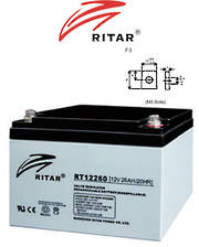 RITAR RT12260 12V 26AH SLA battery (F3 Plug)