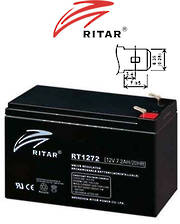 RITAR RT1272 12V 7.2AH SLA battery