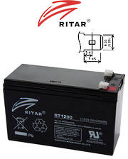 RITAR RT1290 12V 9AH SLA Lead Acid battery suitable for UPS/EPS, medical equipment, emergency light and security systems
