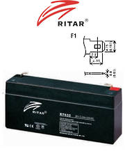 RITAR RT632 6V 3.2AH SLA battery