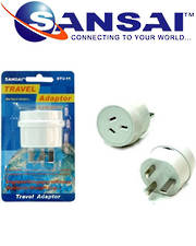 SANSAI Travel Adaptor for NZ/AUS UK Singapore Malaysia HK