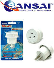 SANSAI Travel Adaptor for NZ/AUS to USA Canada