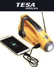 Dynamo Torch with USB Phone Charger, Radio and Emergency Alarm