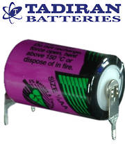 Tadiran TL-5902 (PT) 1/2AA 3.6V Lithium Battery with 3-Pin (D+7mm S-) Connection