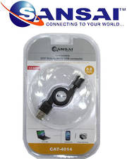 SANSAI USB to MicroUSB Retractable Plug Cable 80cm