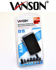 VANSON 2.5A Universal Regulated Power Adapter 3V to 12V