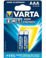 Varta High Energy AAA Alkaline 2 Pack