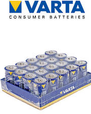 Varta High Energy D Size (LR20) Alkaline 20 Pack