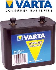 Varta Longlife 4R25-2 6V Lantern Big Jim Heavy Duty Battery