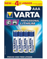 Varta AAA LR3 Lithium Battery 4 Pack