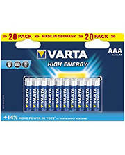 Varta High Energy AAA Alkaline 20 Pack