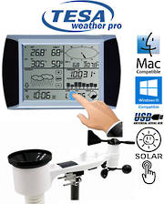 WS1081 Ver2 TESA Solar Powered Touch Panel Weather Center with PC interface