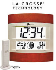 WS6118IT La Crosse Moon Phase Wall clock with Outdoor Temp