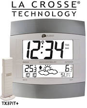 WS6158IT La Crosse Wall clock with Outdoor Temp