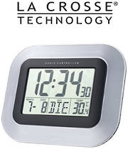 WS8005 La Crosse Wall Clock with Indoor Temperature