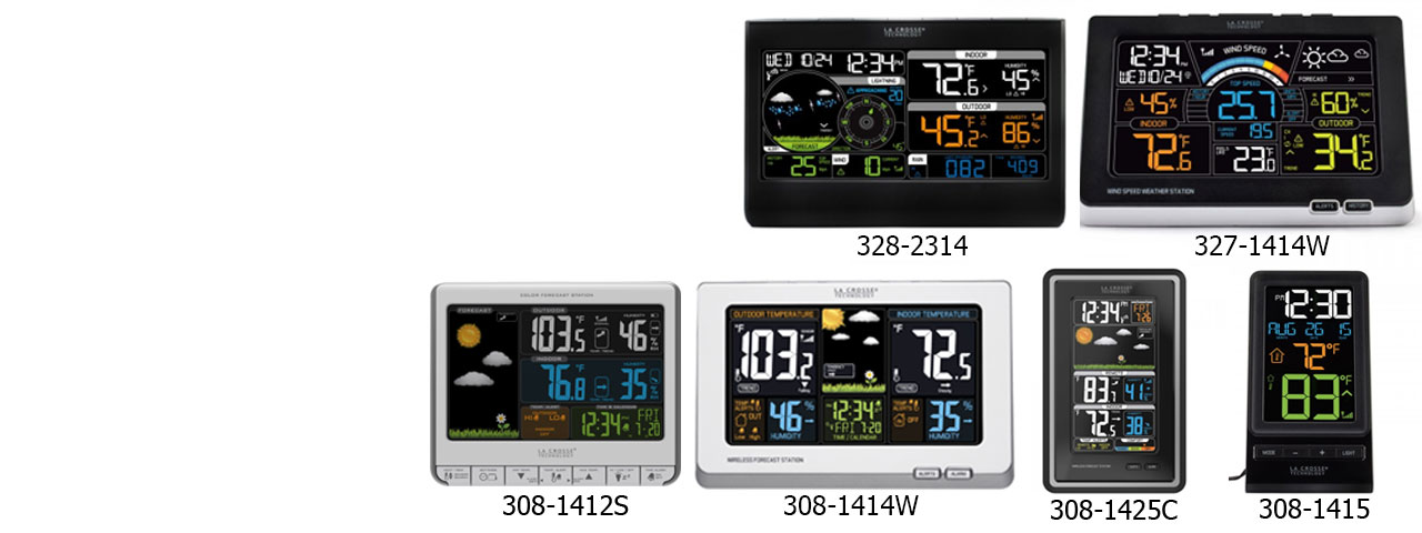 La Crosse Colour Weather Station Ranges