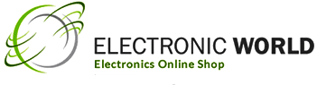 Electronic world logo