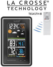 308-1425C La Crosse Digital Vertical Wireless Forecast Station with Temperature Alerts